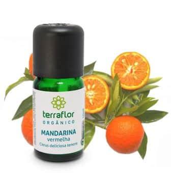 Óleo essencial de Mandarina vermelha orgânico 10ml - Imagem meramento ilustrativa